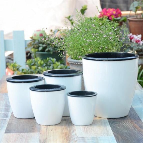 Pot absorbant et son cache-pot - 1