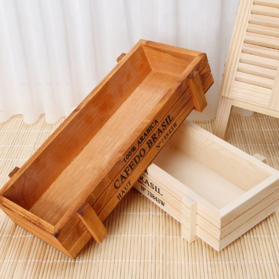 Vintage wooden planter - 1