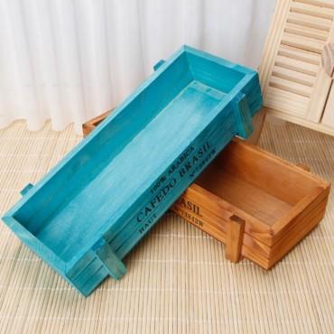 Vintage wooden planter - 2