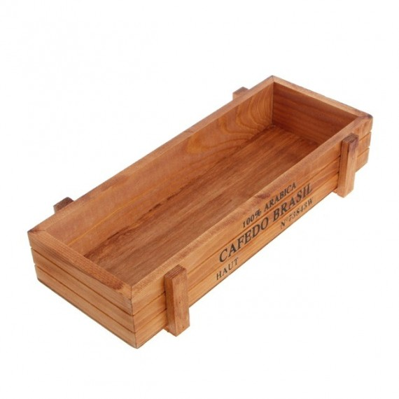 Vintage wooden planter - 8