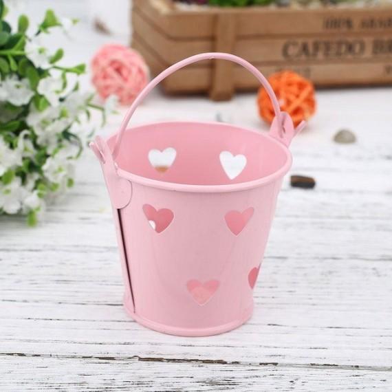 Pot - seau avec des coeurs pour plante - 7
