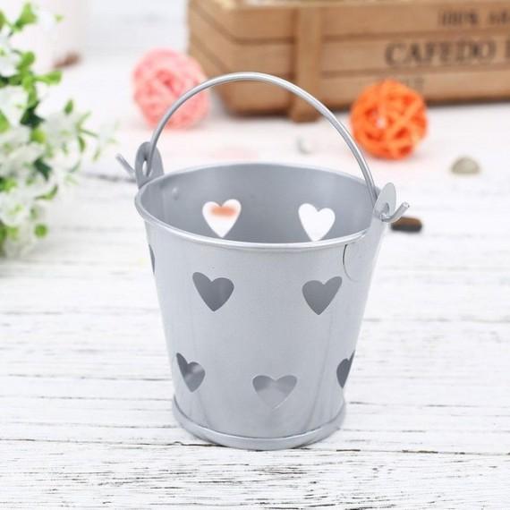 Pot - seau avec des coeurs pour plante - 9