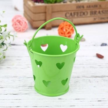 Pot - seau avec des coeurs pour plante - 10