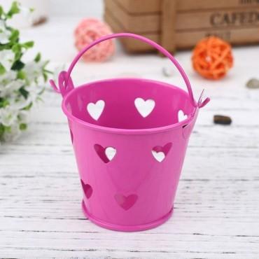 Pot - seau avec des coeurs pour plante - 11