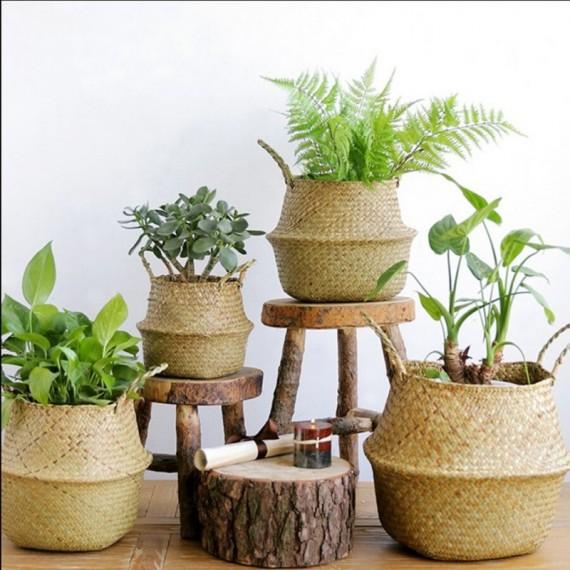 Rattan flowerpot - 1