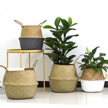 Rattan flowerpot - 2