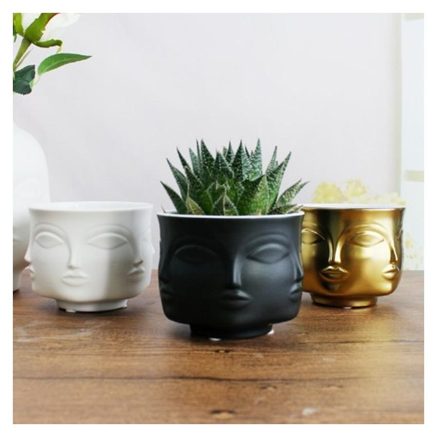 Handmade multi-faceted flowerpot - 1