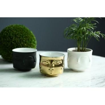 Handmade multi-faceted flowerpot - 3