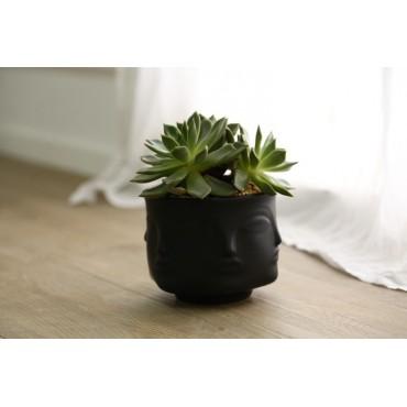 Handmade multi-faceted flowerpot - 4