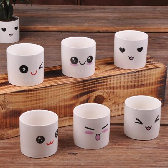 Cute ceramic pot kawaii - 2