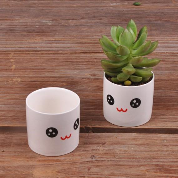 Cute ceramic pot kawaii - 6