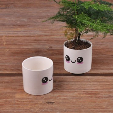 Cute ceramic pot kawaii - 7