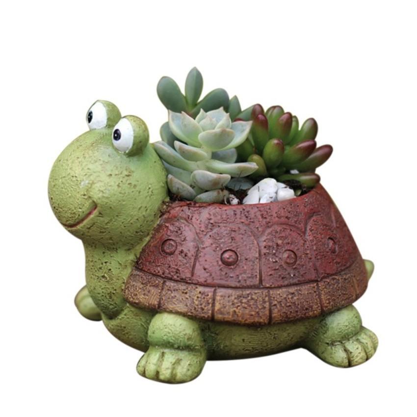 Pot de fleur tortue - 1