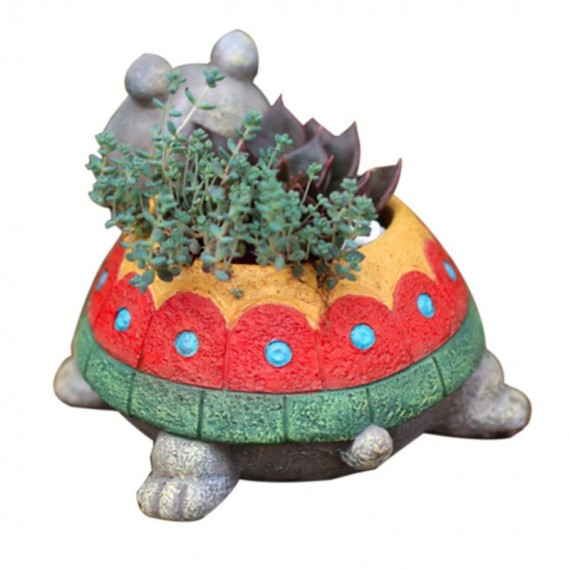 Pot de fleur tortue - 4