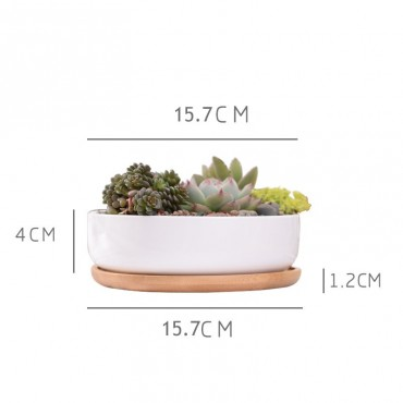 Scandinavian white ceramic pot - 2