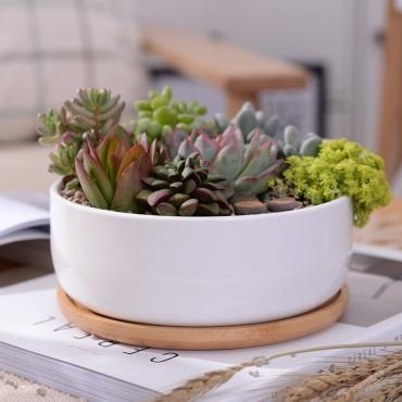 Scandinavian white ceramic pot - 3