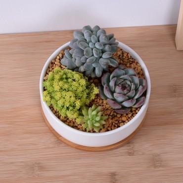Scandinavian white ceramic pot - 6