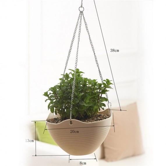 Pot en suspension coloré et sa chaîne - 3