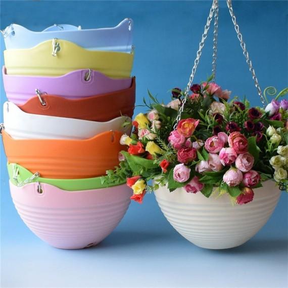 Pot en suspension coloré et sa chaîne - 4