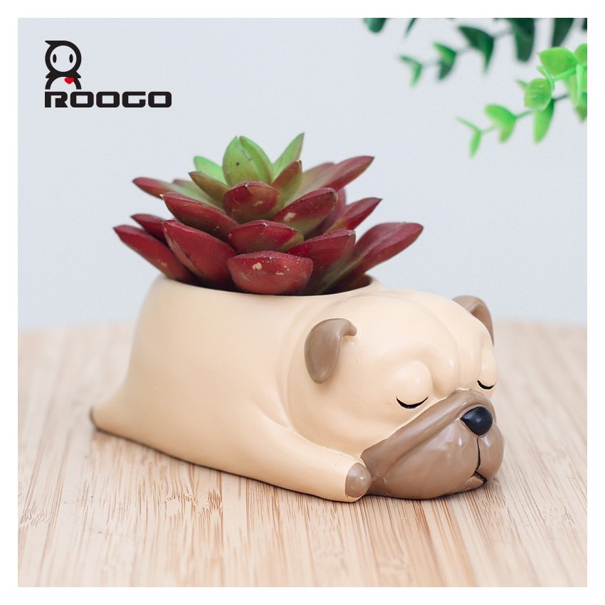 Sleeping dog flower pot - 1