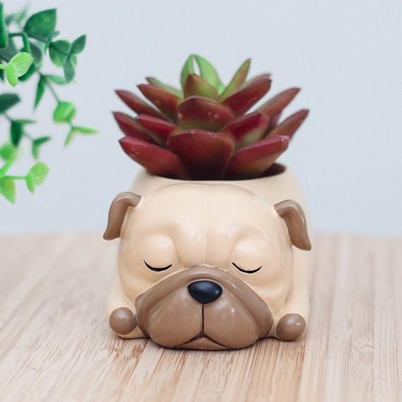 Pot de fleur chien qui dort - 3