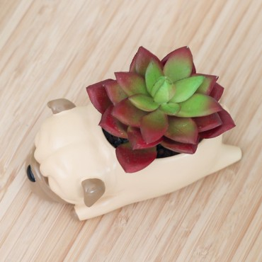 Sleeping dog flower pot - 5